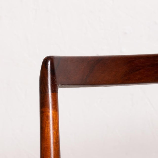 Mid Century Danish Modern Set of 6 Dining Chairs by Arne Vodder for Sibast 430 For Sale - Image 9 of 11