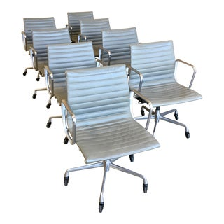 Eames for Herman Miller Aluminium Group Management Chairs - Set of 8