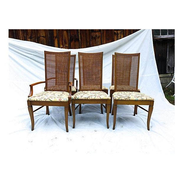Mid-Century Caned Dining Chairs - Set of 6 - Image 2 of 8