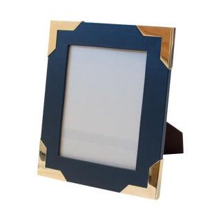 Derby Blue Leather Frame For Sale