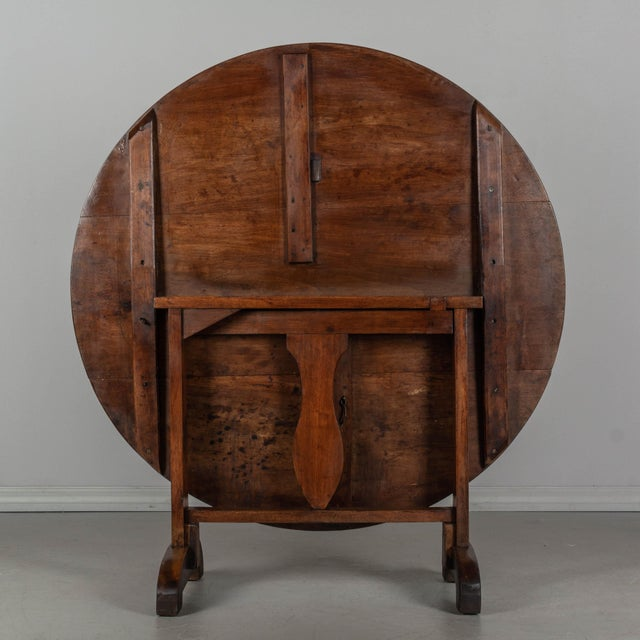 19th C. French Wine Tasting Table or Tilt-Top Table For Sale In Orlando - Image 6 of 12