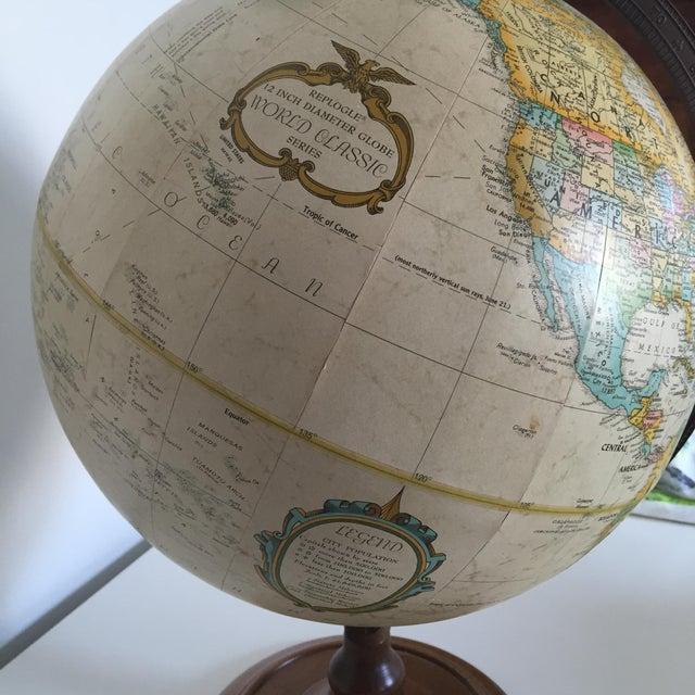 Vintage World Globe on Wooden Base - Image 3 of 3