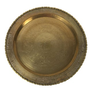 Large Chinese Brass Tray For Sale