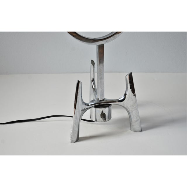 1960s Mid-Century Modern Space Age Chrome Lamp For Sale - Image 4 of 12
