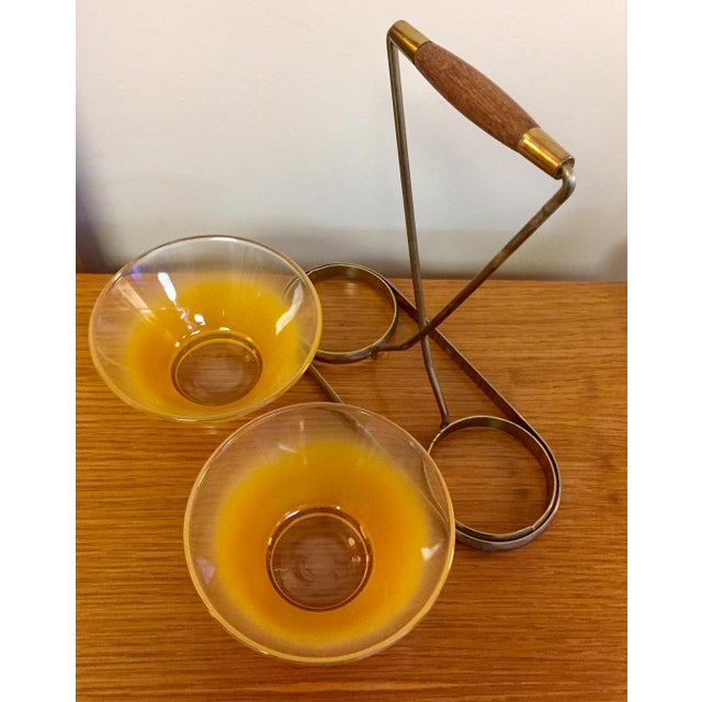 Mid-Century Modern Petite Bowl Serving Set For Sale In West Palm - Image 6 of 9