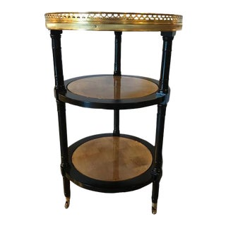 Hollywood Regency Gilt Glass Serving Cart in Manner of Jansen