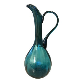 Mid-Century Hand Blown Pitcher For Sale