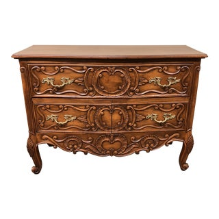Hand Carved Sideboard / Filling Cabinet For Sale
