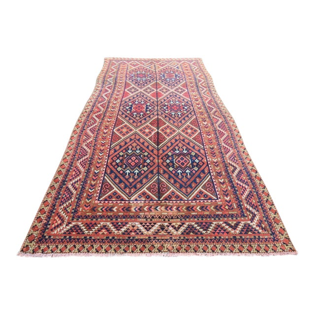 "Vintage Oushak Turkoman Persian Nomad Rug - 5'11"" x 10'6"" For Sale"