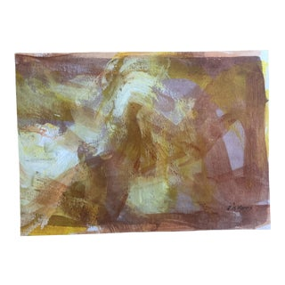 2015 Dh Morris Mixed Media Abstract Painting on Paper For Sale