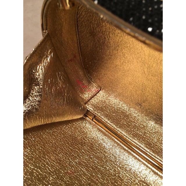 Judith Leiber Black Swarovski Crystal Minaudiere Evening Bag Clutch For Sale In Philadelphia - Image 6 of 9
