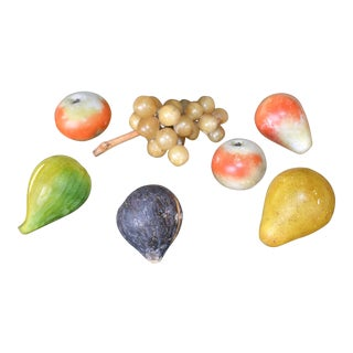 Alabaster Fruit Figurines - Set of 7