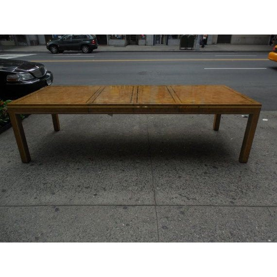 Mastercraft Burlwood & Brass Parsons Dining Table For Sale - Image 7 of 7