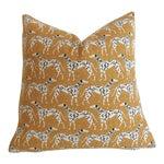 Mustard Dalmatian Pillow Cover 16x16