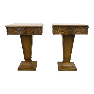 1940s Vintage Grosfeld House Nightstands-a Pair For Sale