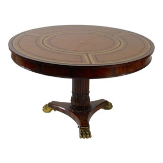 Maitland Smith Mahogany Center Table For Sale