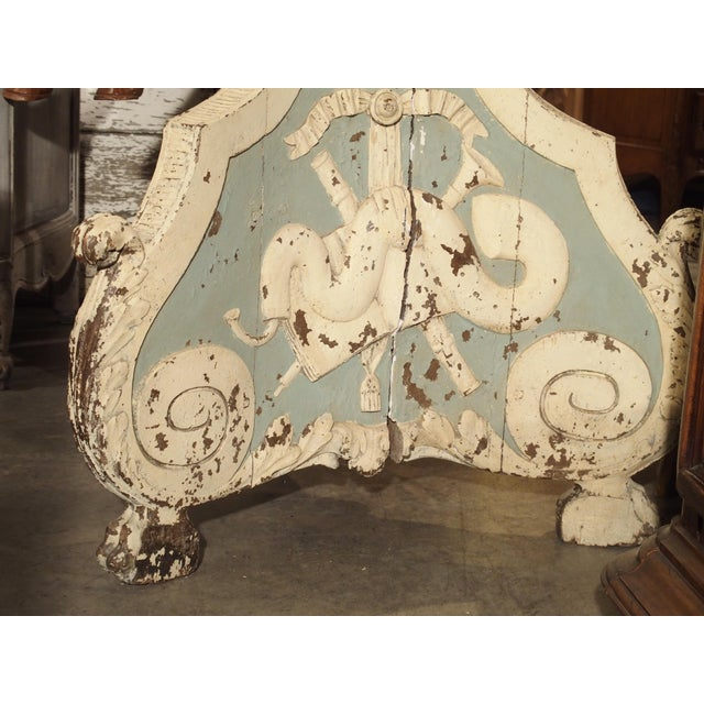 Large and Unique 18th Century Painted Wooden Jardiniere From Bruges For Sale In Dallas - Image 6 of 13