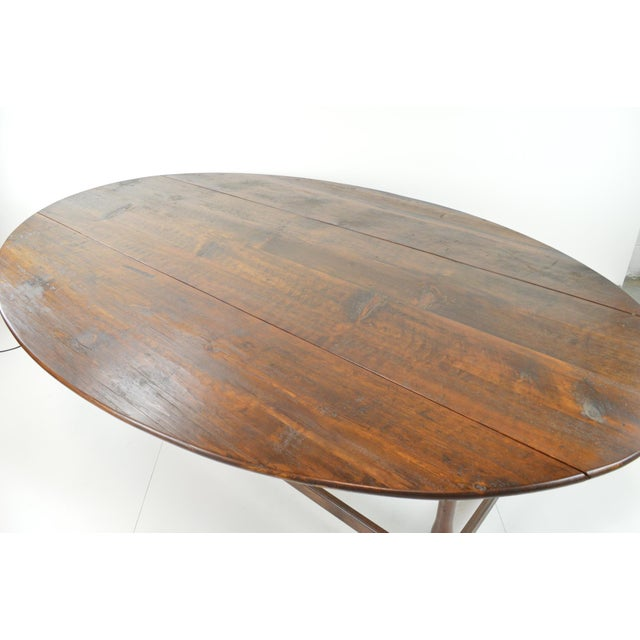 Antique Oval Drop Leaf Dining Table - Image 4 of 9