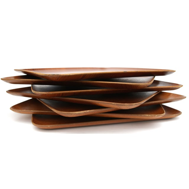 Mid-Century Teak Trays - Set of 7 - Image 3 of 8