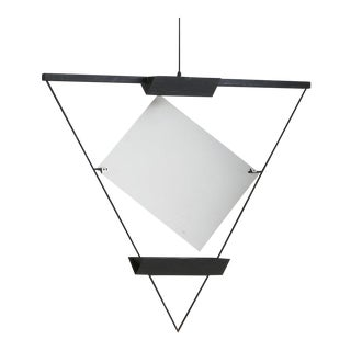 Mario Botta for Artemide Triangular Suspension Pendant For Sale