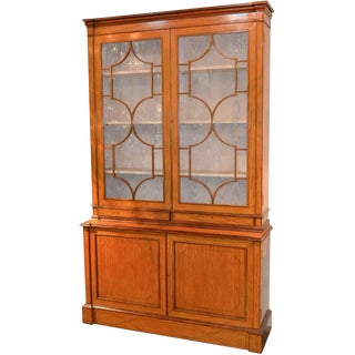 19th Century English Edwardian Bookcase For Sale