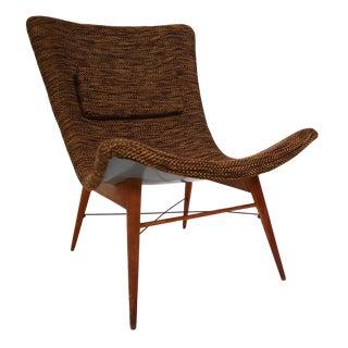 Mid Century Modern Fiberglass Lounge Chair by Miroslav Navratil, Czech Republic 1959 For Sale