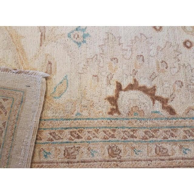 "Kafkaz Peshawar Jasmine Ivory & Brown Wool Rug - 9'11"" x 13'9"" For Sale In New York - Image 6 of 7"