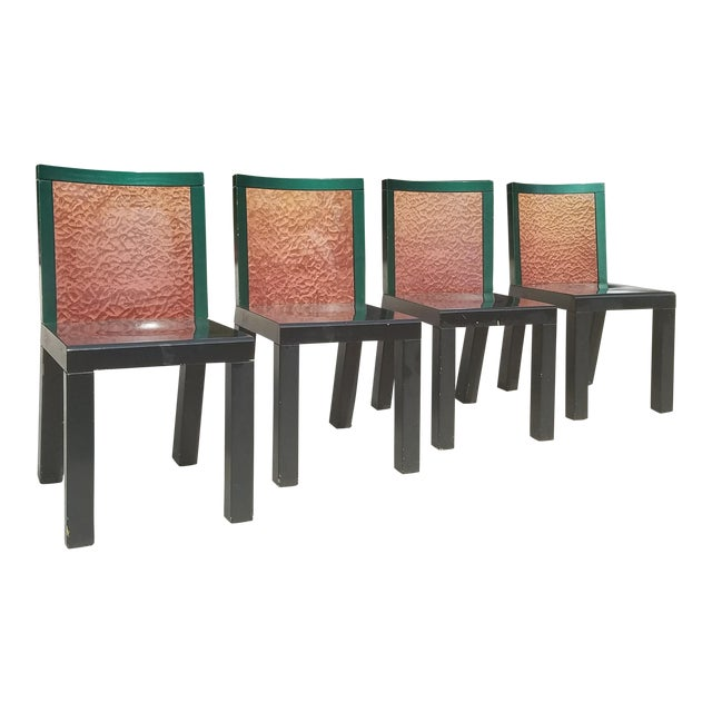 "1970s Mid-Century Modern Ettore Sottsass ""Danube"" Chairs - Set of 4 For Sale"