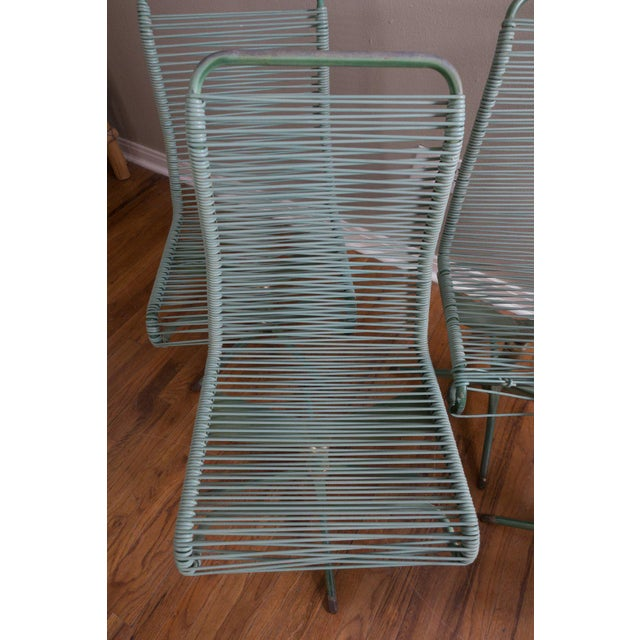 1950s 1950s Vintage Ames Aire Cabana Star Line Green Patio Chairs- Set of 4 For Sale - Image 5 of 11