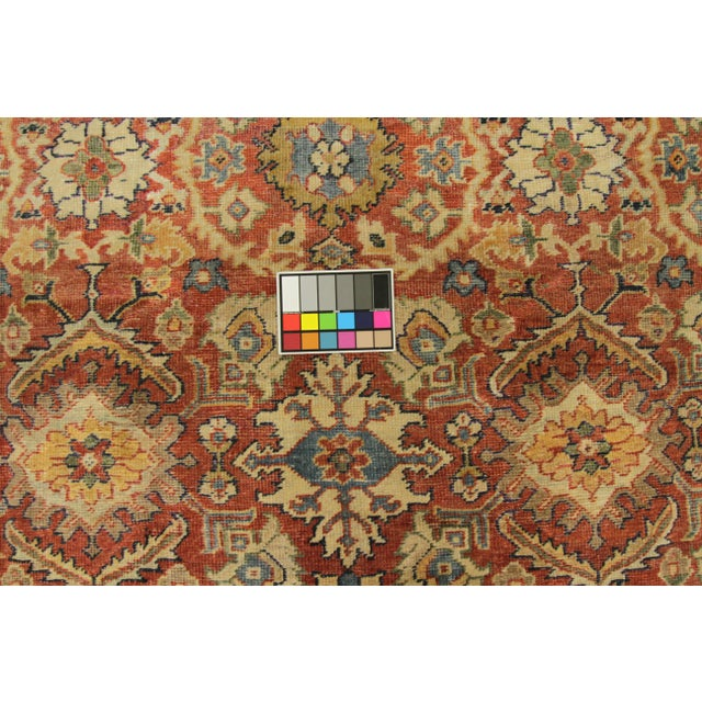Red 1920s Vintage Persian Sultanabad Rug - 10′4″ × 16′ For Sale - Image 8 of 10