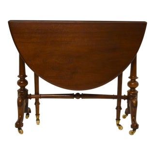 19th-Century English Walnut Drop Leaf Table For Sale