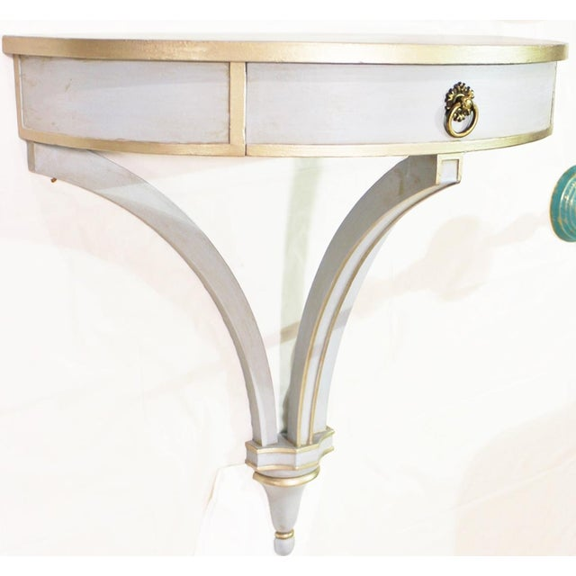 Hanging Painted Wall Console For Sale In West Palm - Image 6 of 10