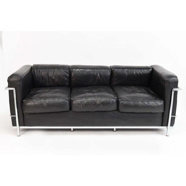 Le Corbusier LC2 Black Leather Sofa