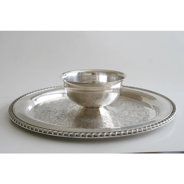 Oneida Wm. A Rogers Silver Chip and Dip Tray For Sale In Seattle - Image 6 of 6