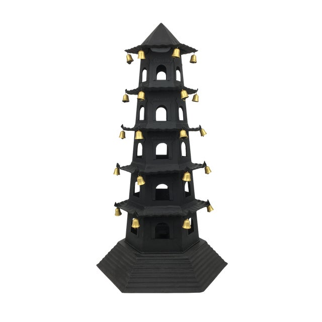 Brighton 5 Level Tole Pagoda With Bells For Sale