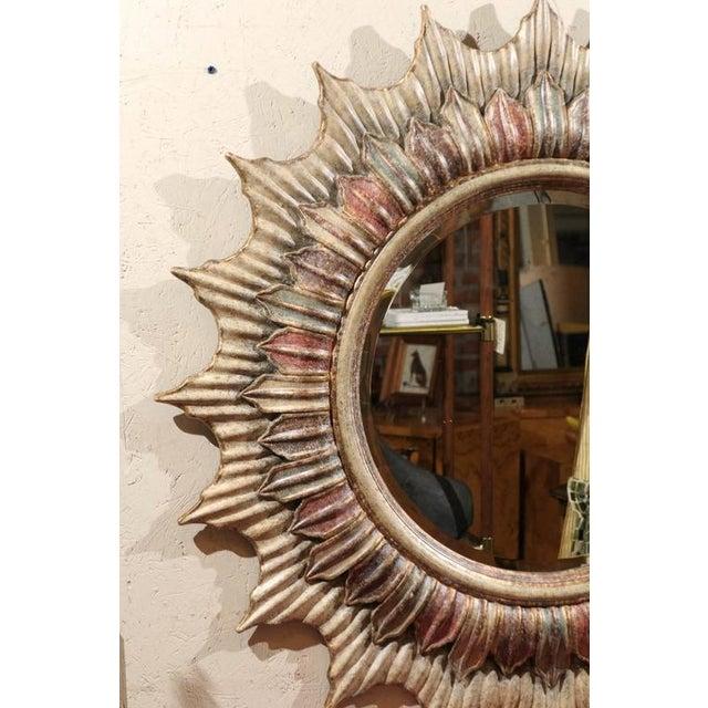 Large Polychrome Sunburst Mirror - Image 2 of 5