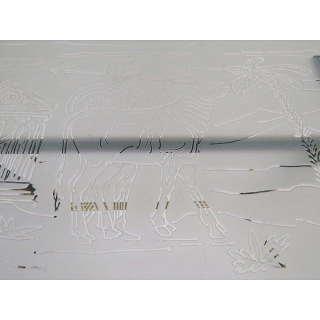 Italian Modern Ireon Glasstop Coffee Table - Image 4 of 7