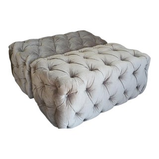 "Custom to Order ""Modern Tufting"" Collection Ottomans For Sale"