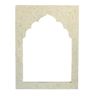 White Inlay Arched Mirror For Sale