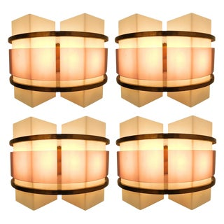 Oscar Torlasco for Stilux Sconces (4 Available) For Sale