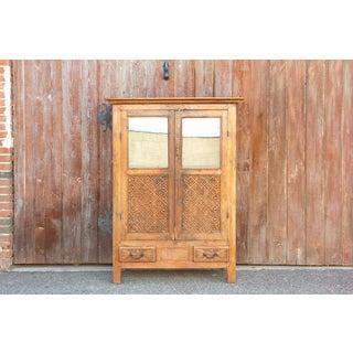 Antique Carved Florette Teak Cabinet Preview