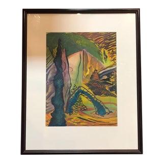 Original Modern Art Painting - Framed For Sale