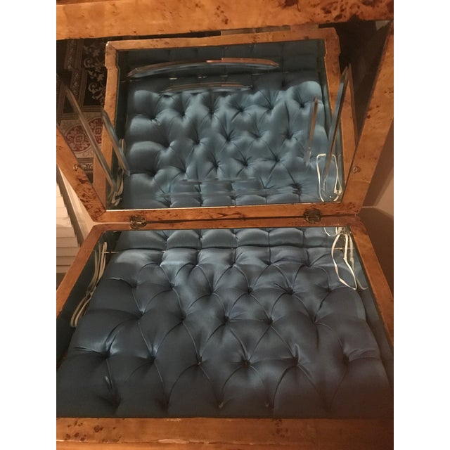 Louis XVI Burlwood Jewelry Chest For Sale In Nashville - Image 6 of 10