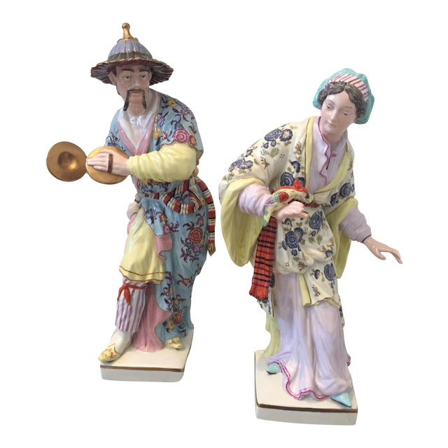 Chinoiserie Figurines by Chelsea House - Pair - Image 1 of 10