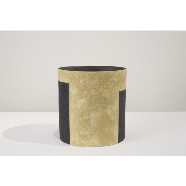 Modern Kathy Erteman (American) Ochre Tall Bucket Vessel For Sale - Image 3 of 3