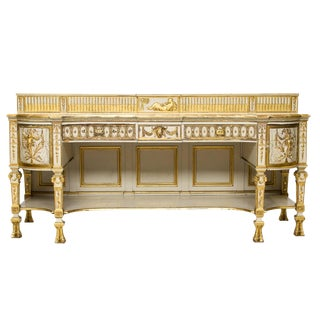19th Century Neoclassical Style Painted Sideboard For Sale
