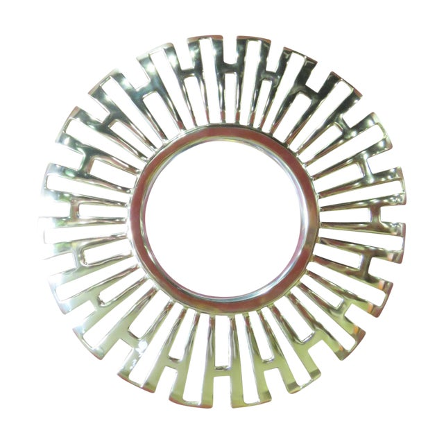 Deco-Style Gold Bullseye Mirror - Image 1 of 2