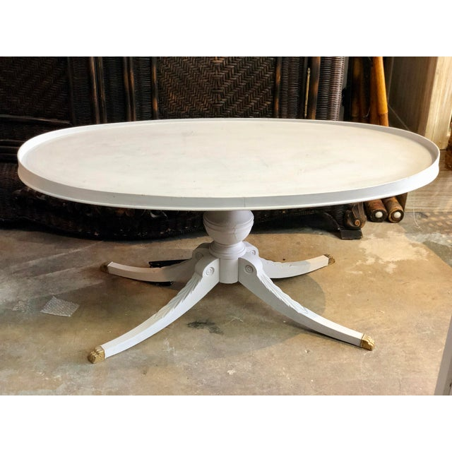 Metal 1960s Regency Oval Coffee Table For Sale - Image 7 of 7