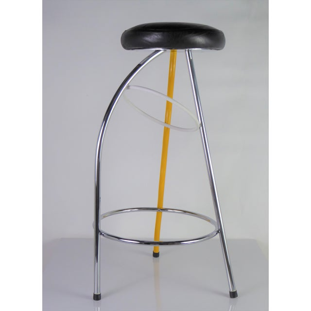 Memphis Duplex Stool by Javier Mariscal Spain, Late 1970s For Sale - Image 4 of 12