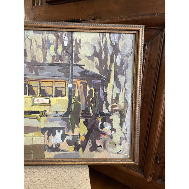 1954 Modernist Figurative Oil Painting by Louis Safer, Framed For Sale - Image 4 of 12